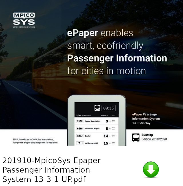 201910-MpicoSys Epaper Passenger Information System 13-3 1-UP