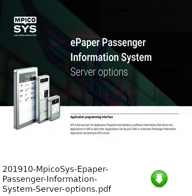 201910-MpicoSys-Epaper-Passenger-Information-System-Server-optionspdf